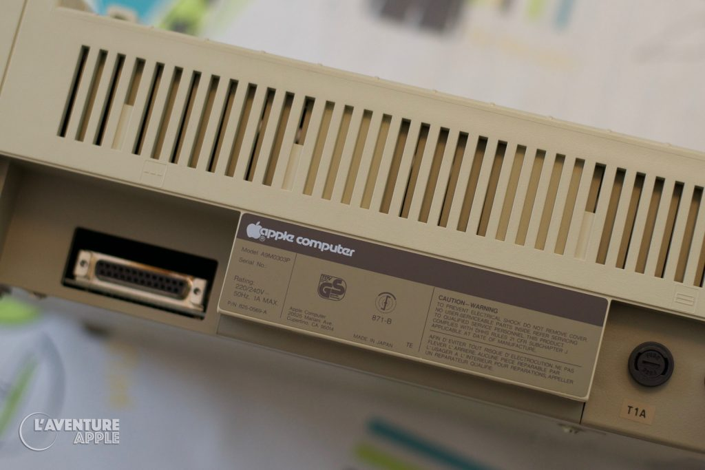 Apple ImageWriter 1983 back
