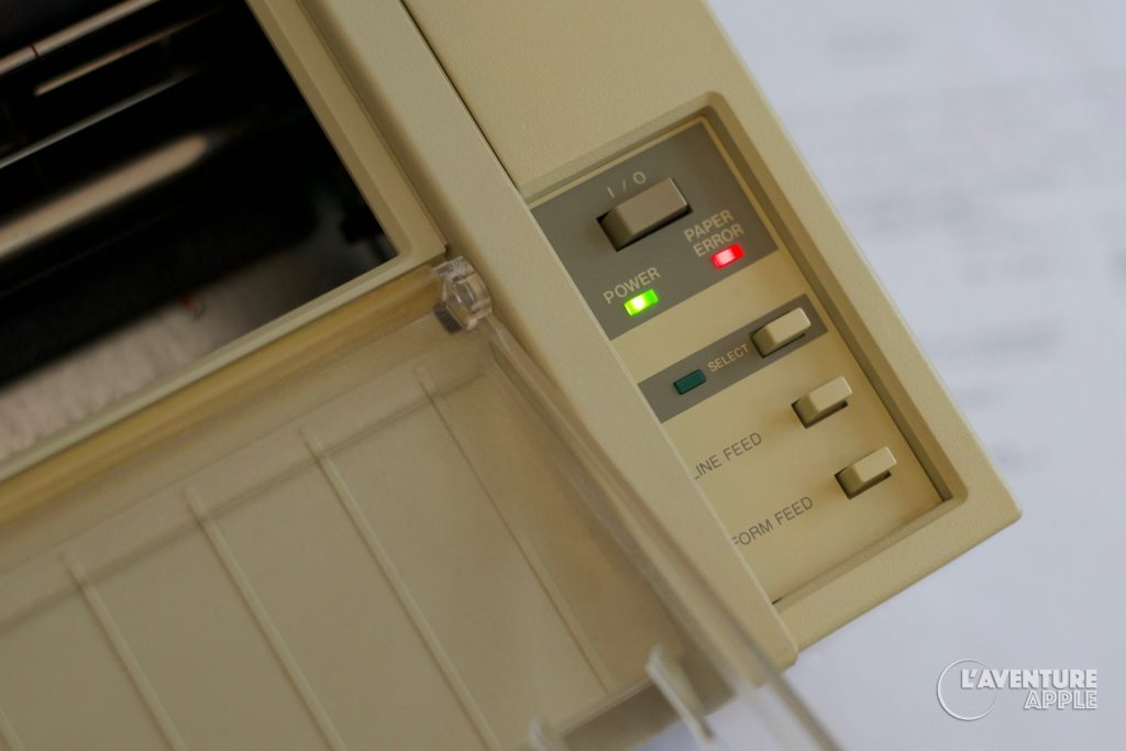 Apple ImageWriter 1983 control panel