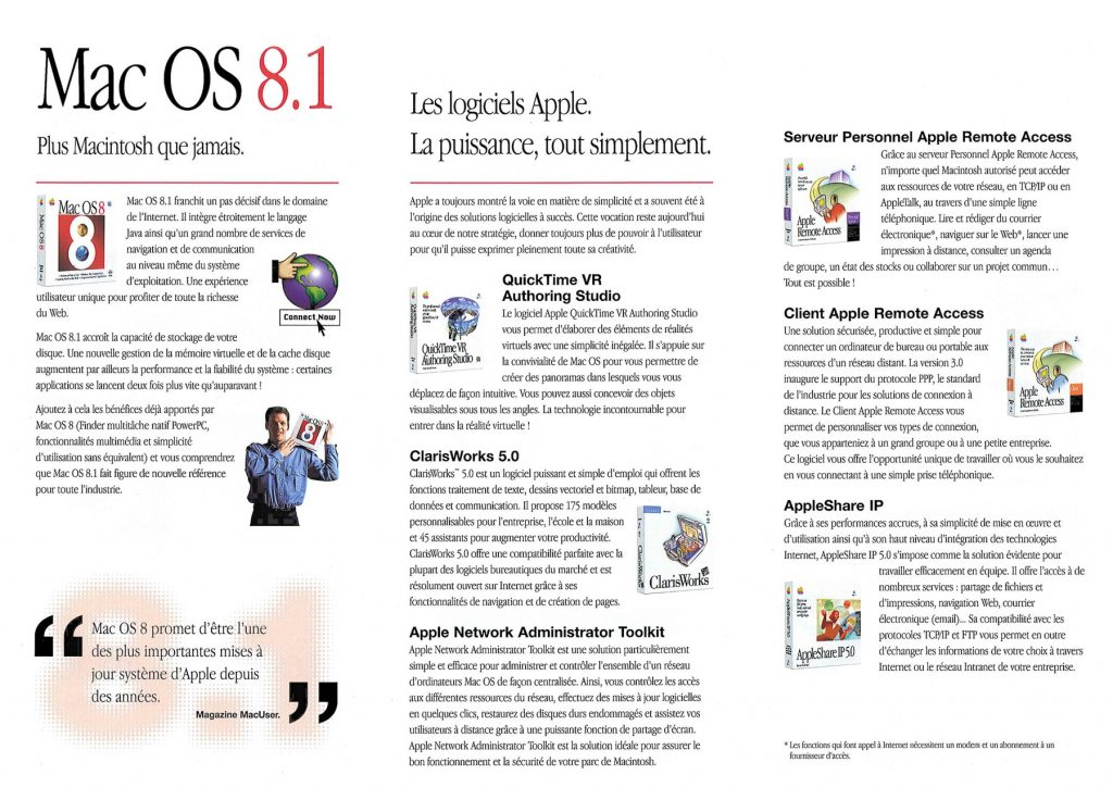 Dépliant Mac OS 8.1 français