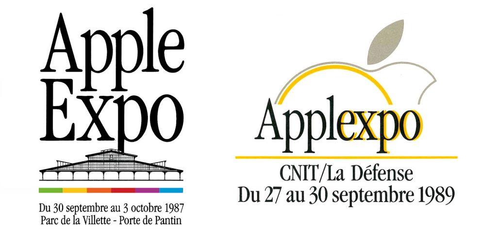 Apple Expo logos 1987 et 1989
