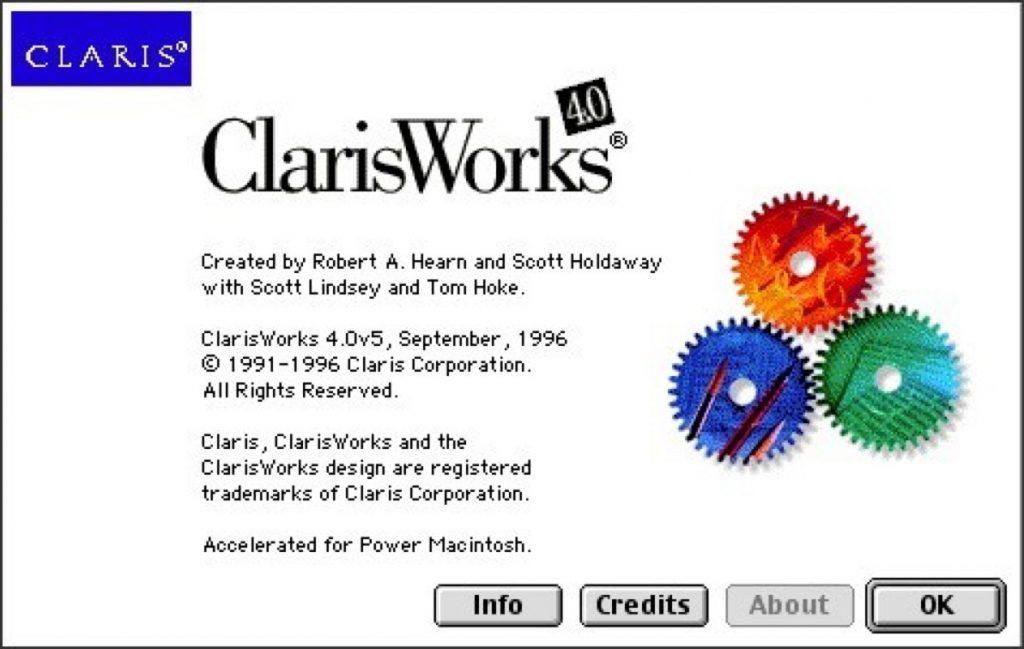 Claris Works 4 splashscreen