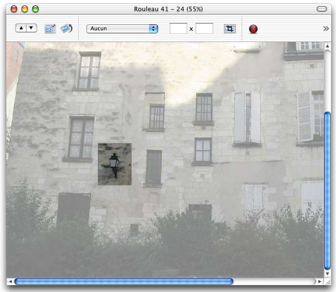 iPhoto 2.0 zoom window
