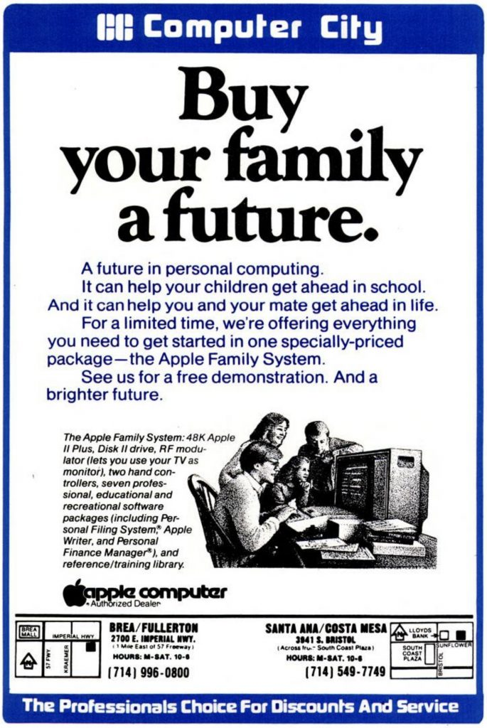 1982 Apple Family System Ad