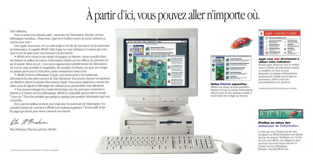 Brochure eWorld Apple France 1995
