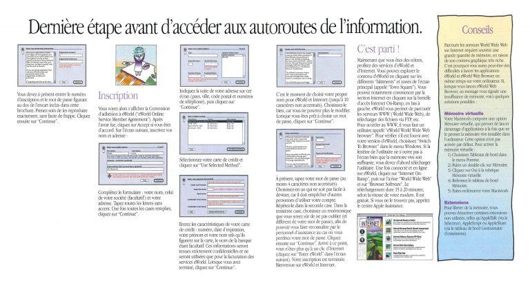 Brochure eWorld Apple France 1995