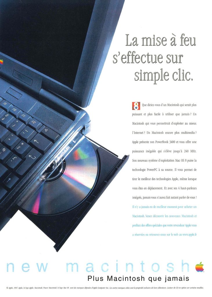 Apple PowerBook 3400 240 Mhz french Ad