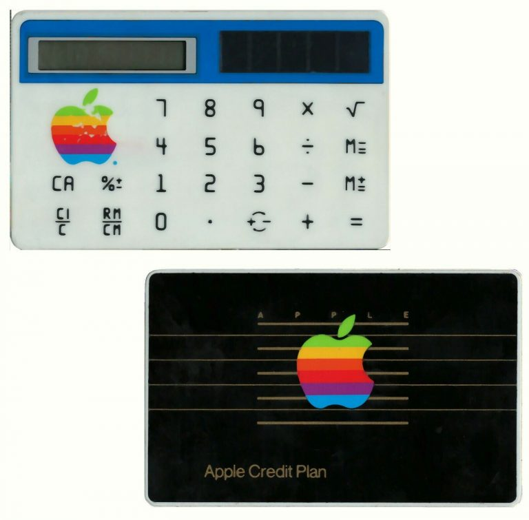 VERY RARE 1983 Apple Computer EMPLOYEE-ONLY rainbow logo solar calculator