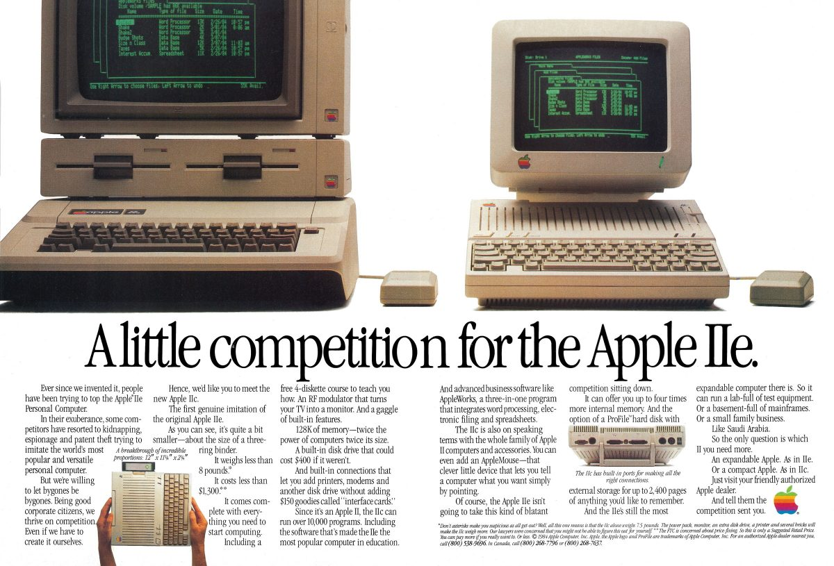 Apple IIc : a little competition for the Apple IIe