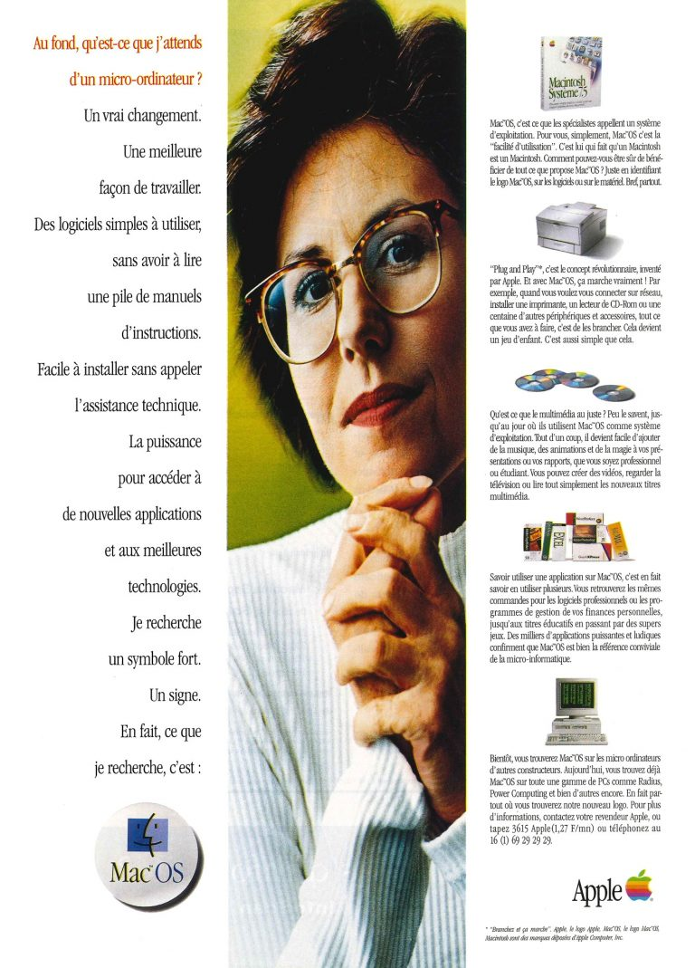 Apple 1995 Mac OS ad (clones)