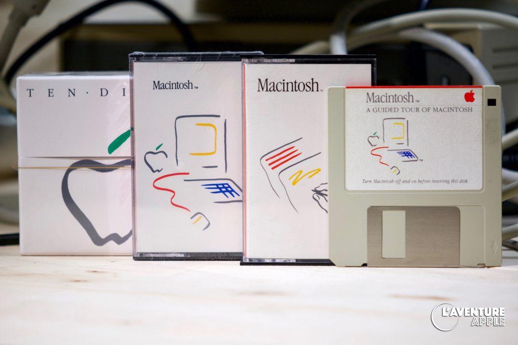 Apple Picasso Logo Macintosh 1984 Ten disks disquettes cassettes Guided tour visite guidée