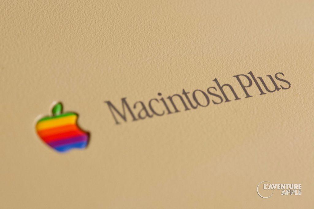 Apple Macintosh Plus Logo Label