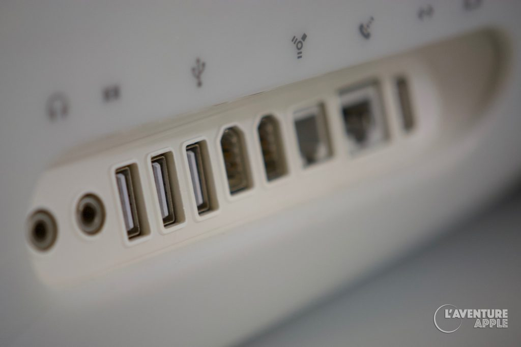 Apple , Les ports de l'eMac