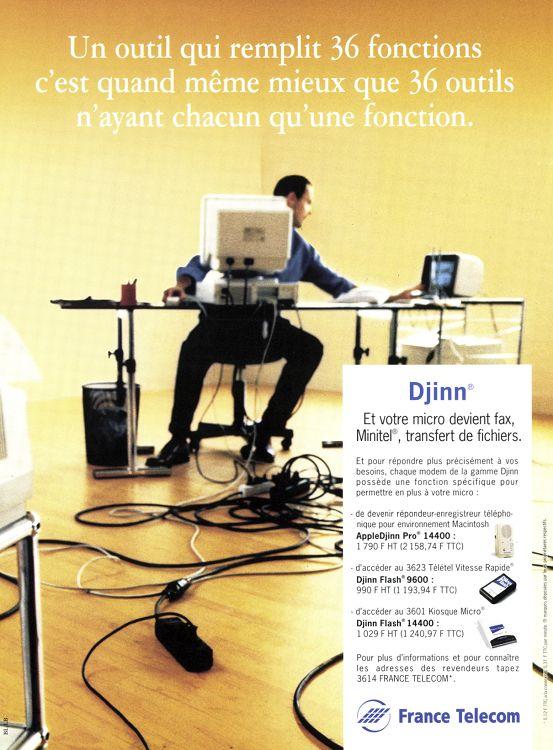 France Télécom Djinn Numeris publicité