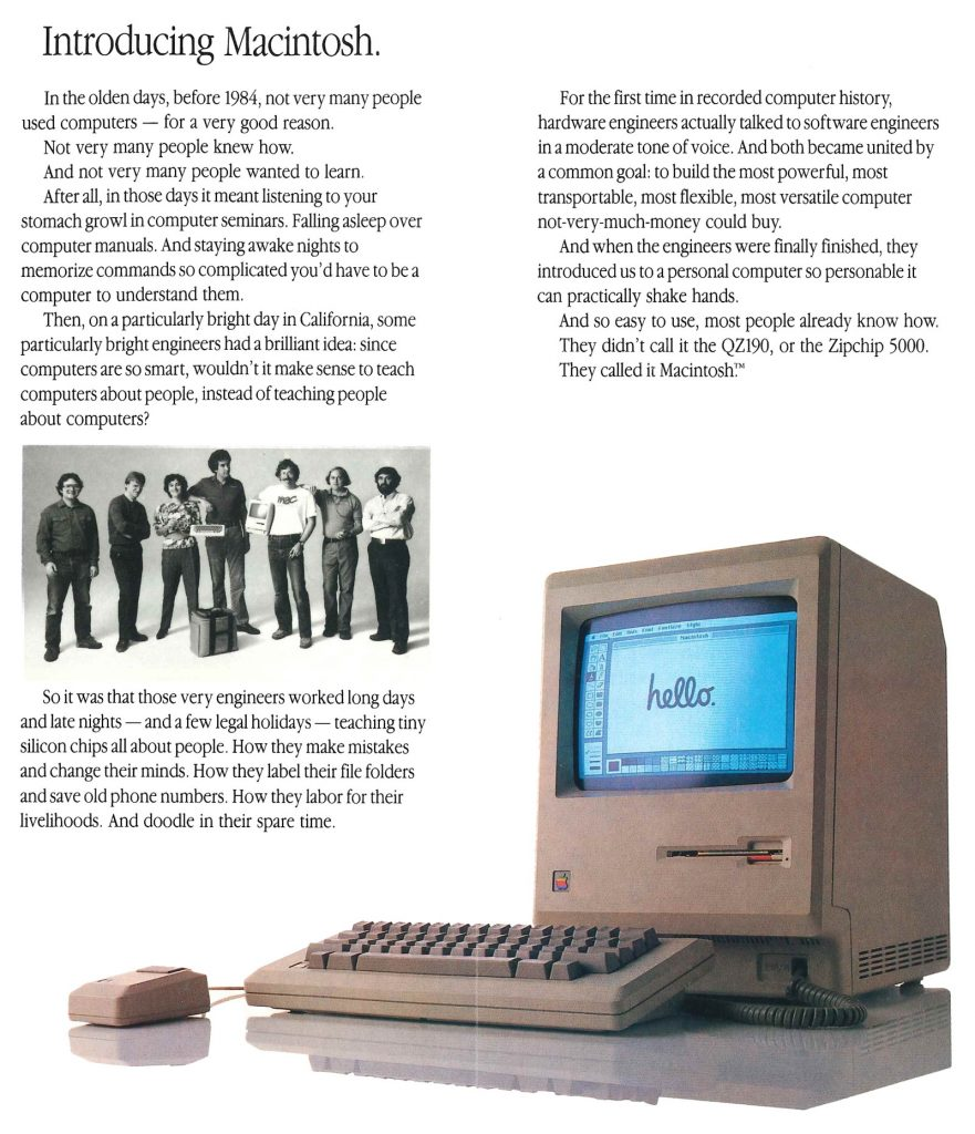 Introducing Macintosh, Hello 1984