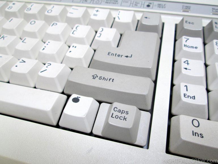 Clavier Apple IIe pomme non croquée