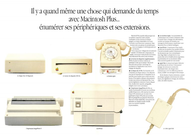Brochure Macintosh Plus Apple France