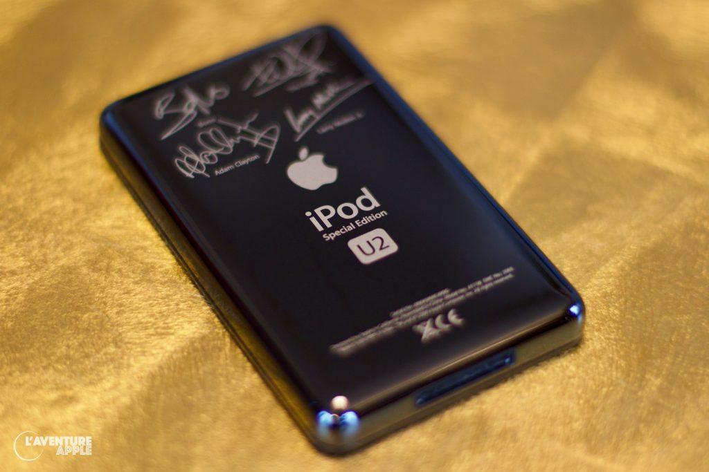 Le dos noir de l'iPod U2 de 5ème génération