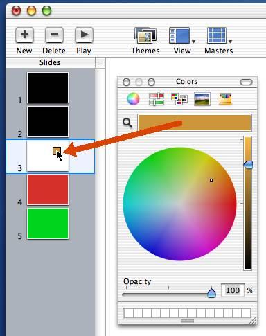 Keynote 1.0 background color