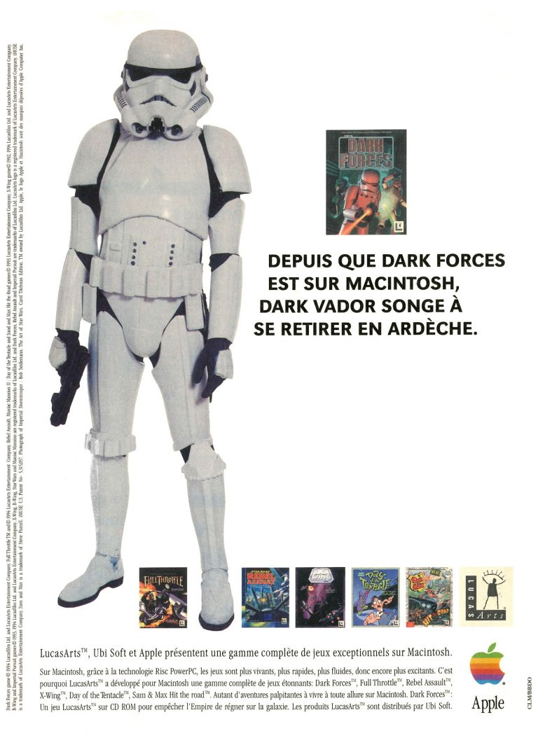 Publicité Apple Macintosh PowerPC, Dark Forces de LucasArts