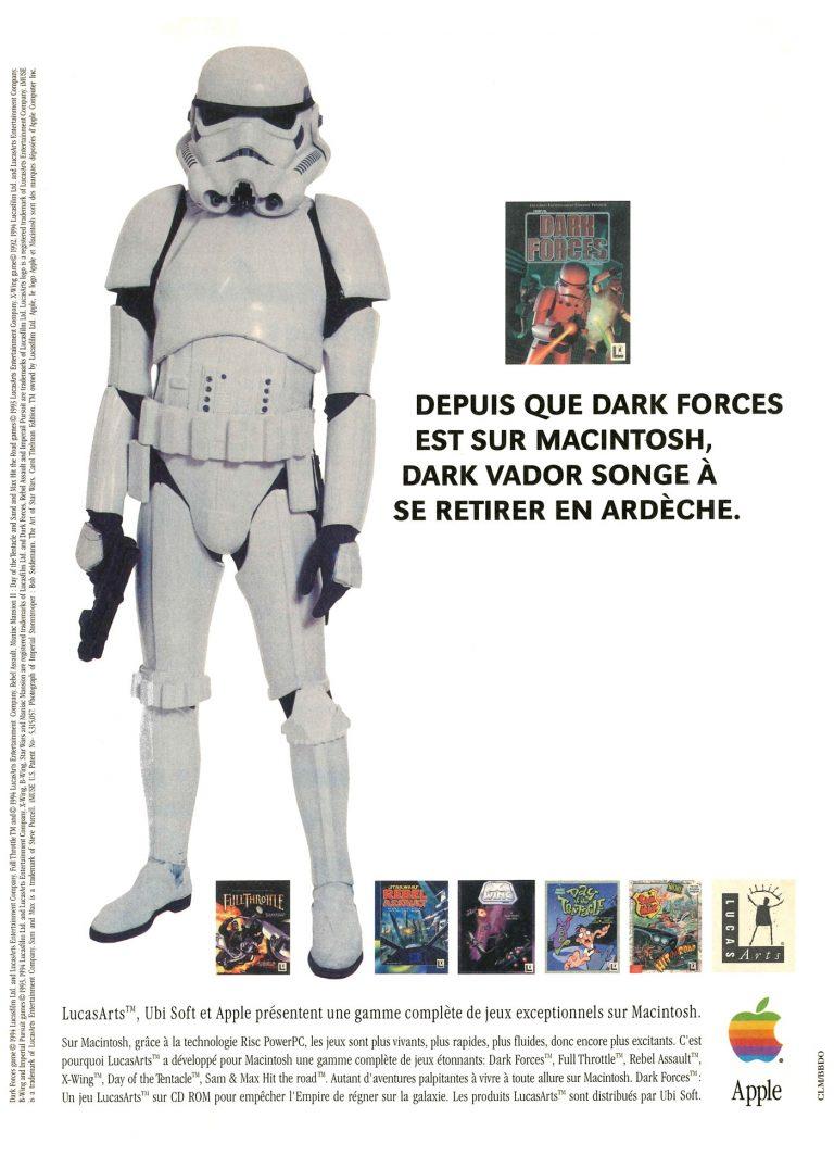 Publicité Apple Macintosh PowerPC, Dark Forces de LucasArts