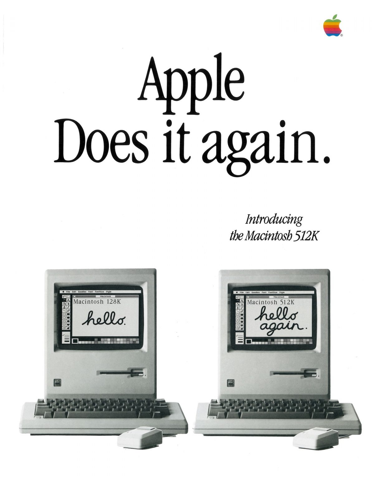 Apple does it again (Hello again Macintosh 512K)