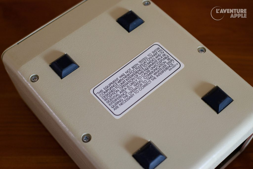 Apple III external drive, not tested for FCC compliance