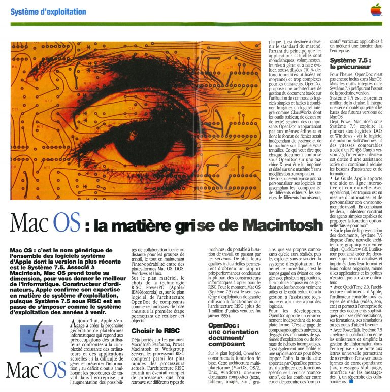 Apple News 1995 Mac OS