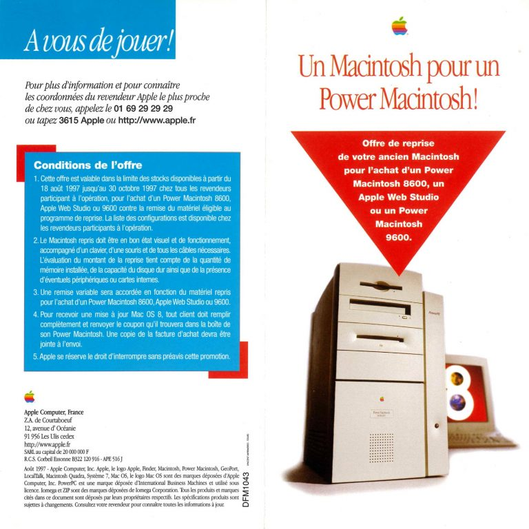 Apple réduction échange Power Macintosh