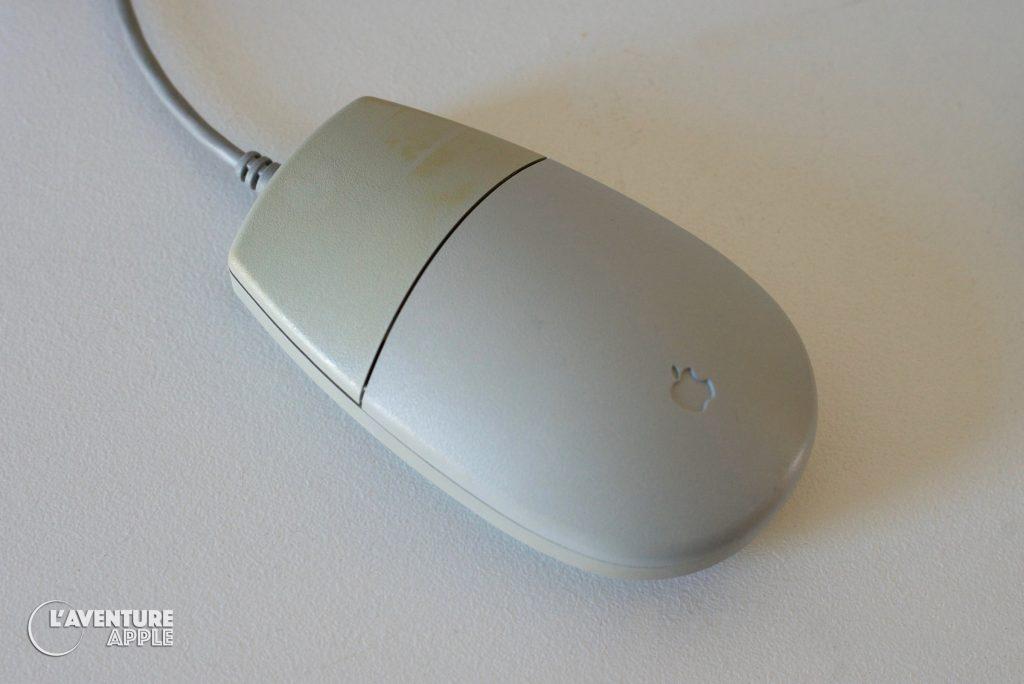 Blanchir le plastique du Macintosh, jauni par le soleil, ADB Mouse II