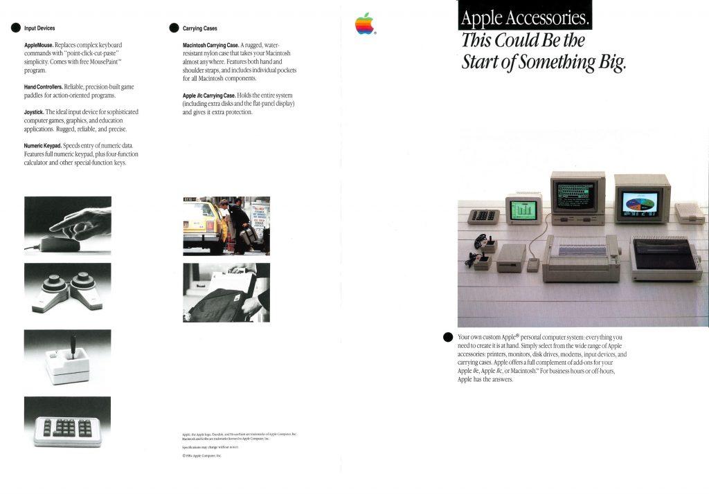 Apple accessories foldout 1984