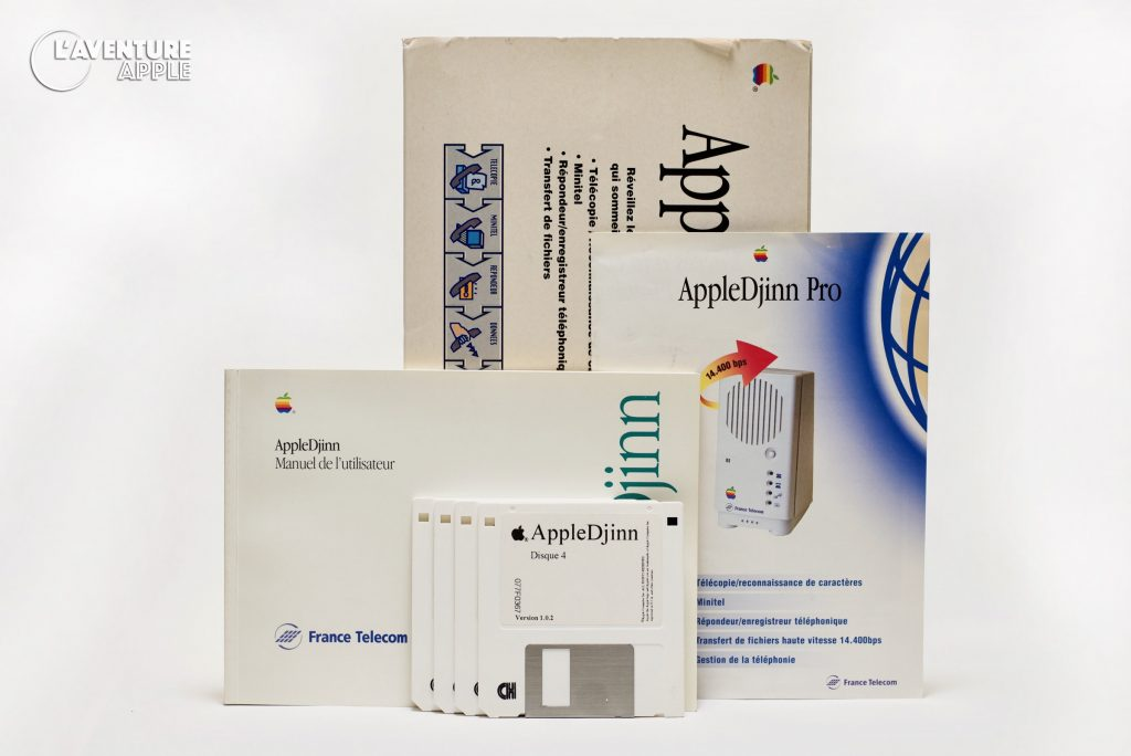 Apple Djinn Modem France Télécom box disks