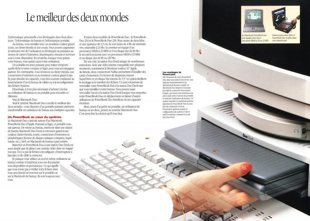 Apple Brochure Macintosh PowerBook Duo 210 et 230