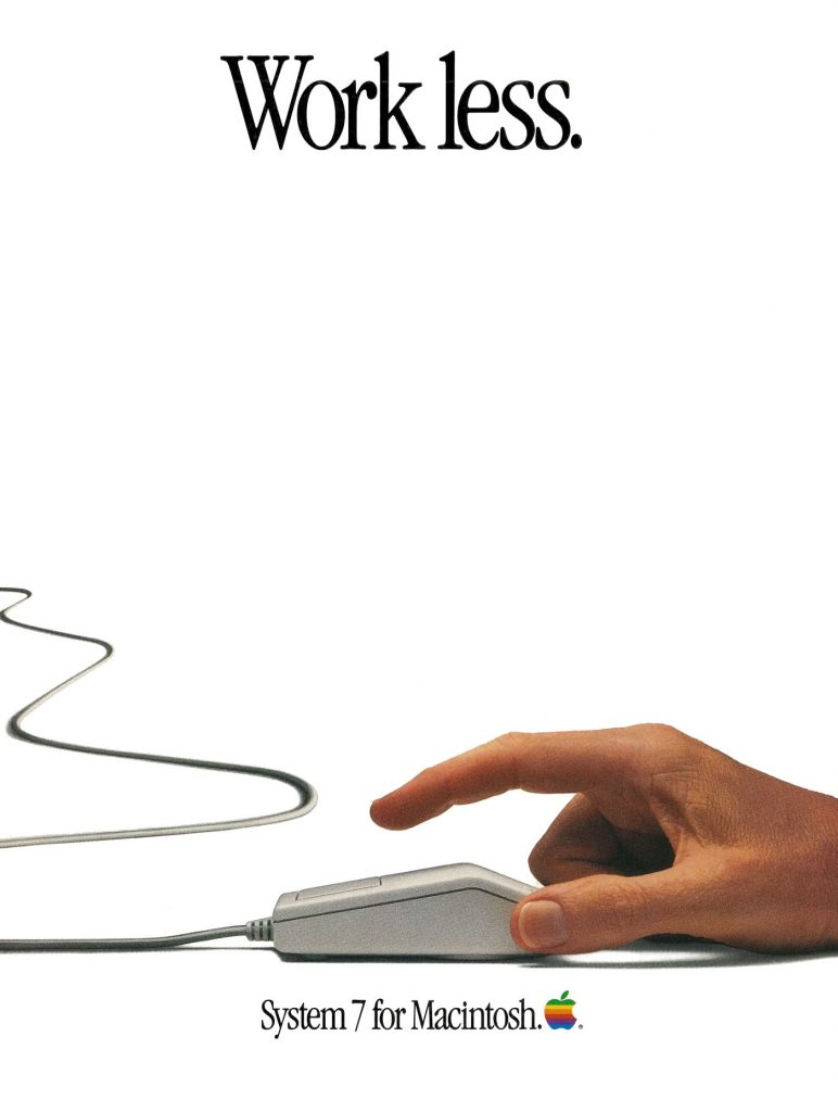 Apple System 7 Ad : work less, do more