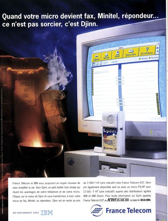 France Télécom Djinn publicité 1993