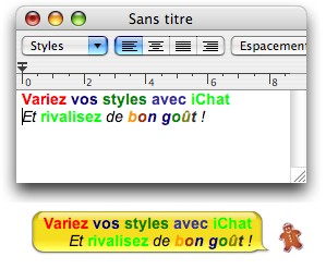 Apple iChat styles