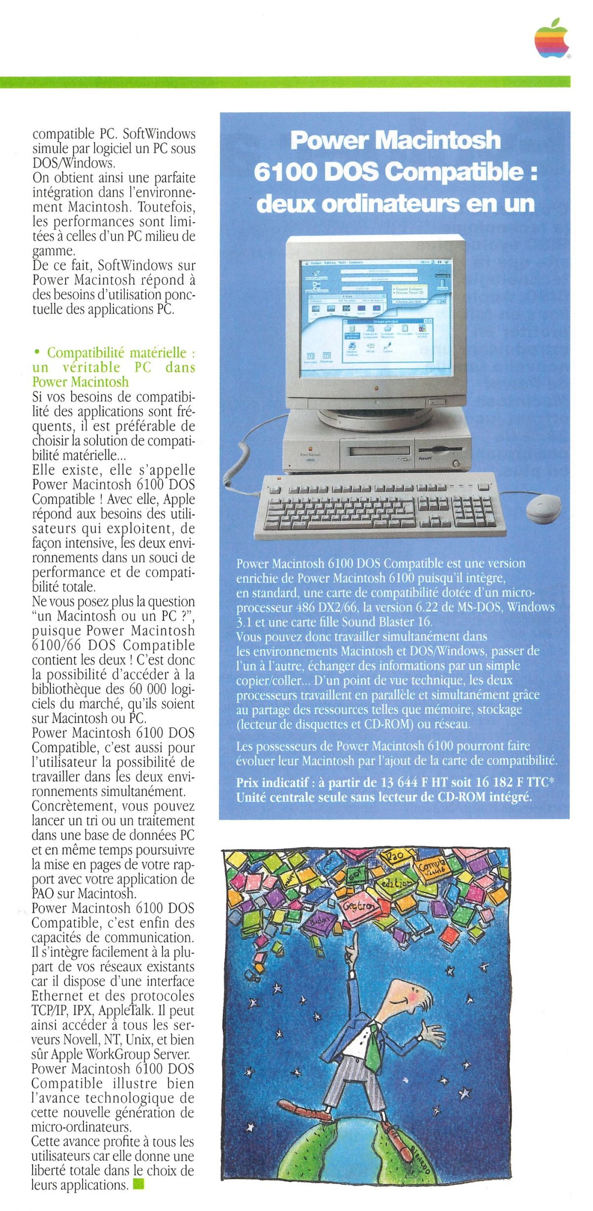Apple News (APple France magazine) 1995 PowerPC Intel Power Macintosh