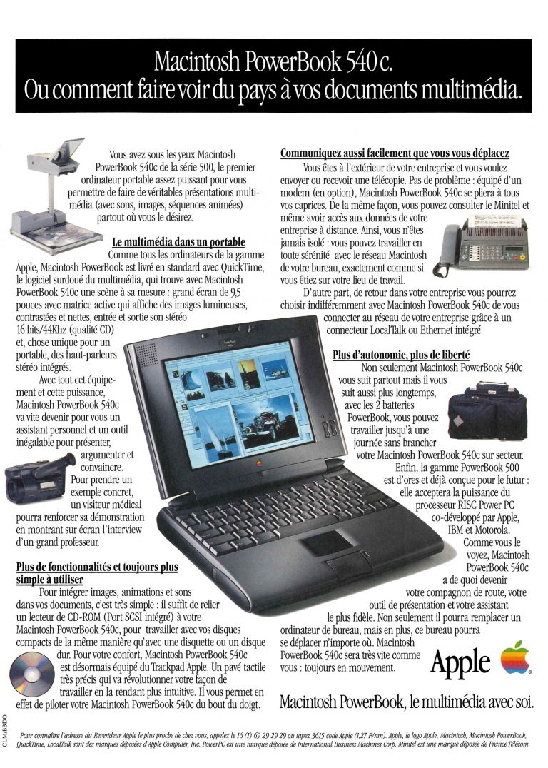 Apple PowerBook 540c publicité