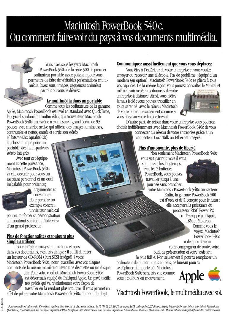 Apple PowerBook 540c publicité