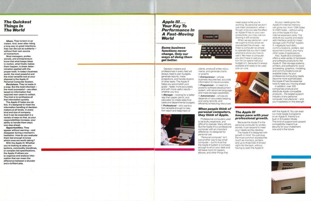 Apple III brochure 1981