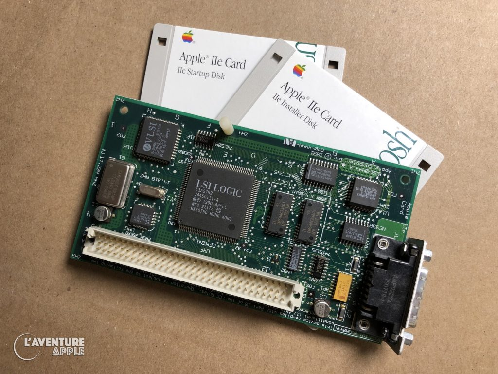 Apple IIe card for Macintosh LC with floppy disks