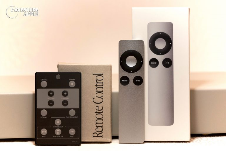 Apple Remotes from 1994 ant 2008