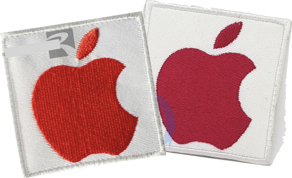 Pièces tissu logo Apple