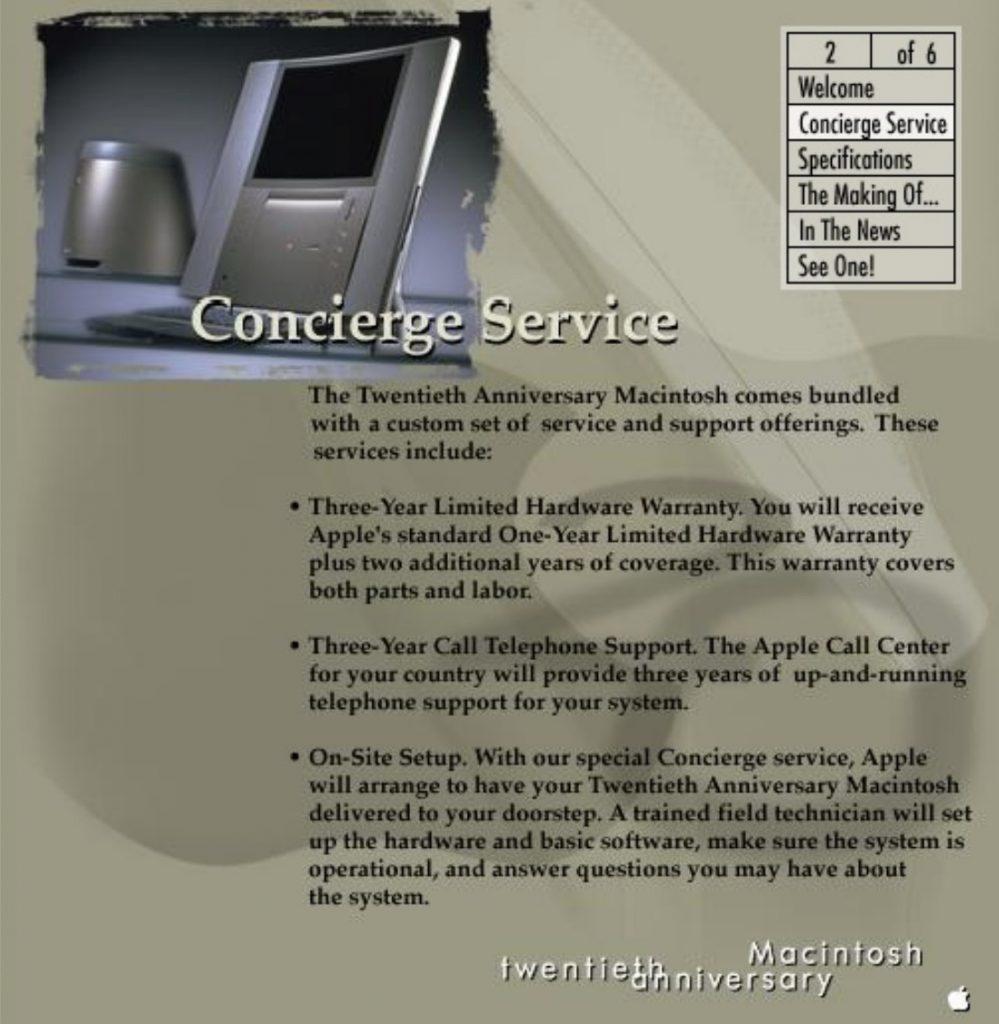 Apple Spartacus Website Concierge Service