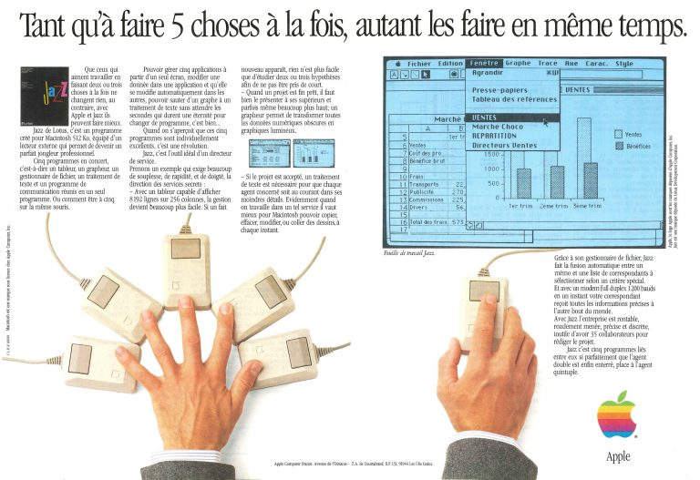 Publicité Apple 1985, Lotus Jazz