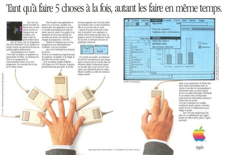 Publicité Apple 1985, Lotus Jazz
