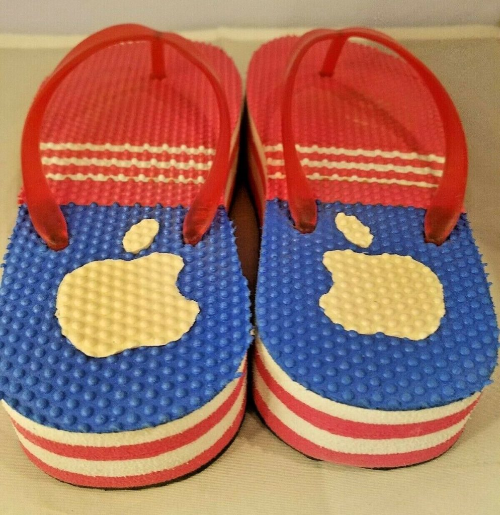 Apple tongs flip flop
