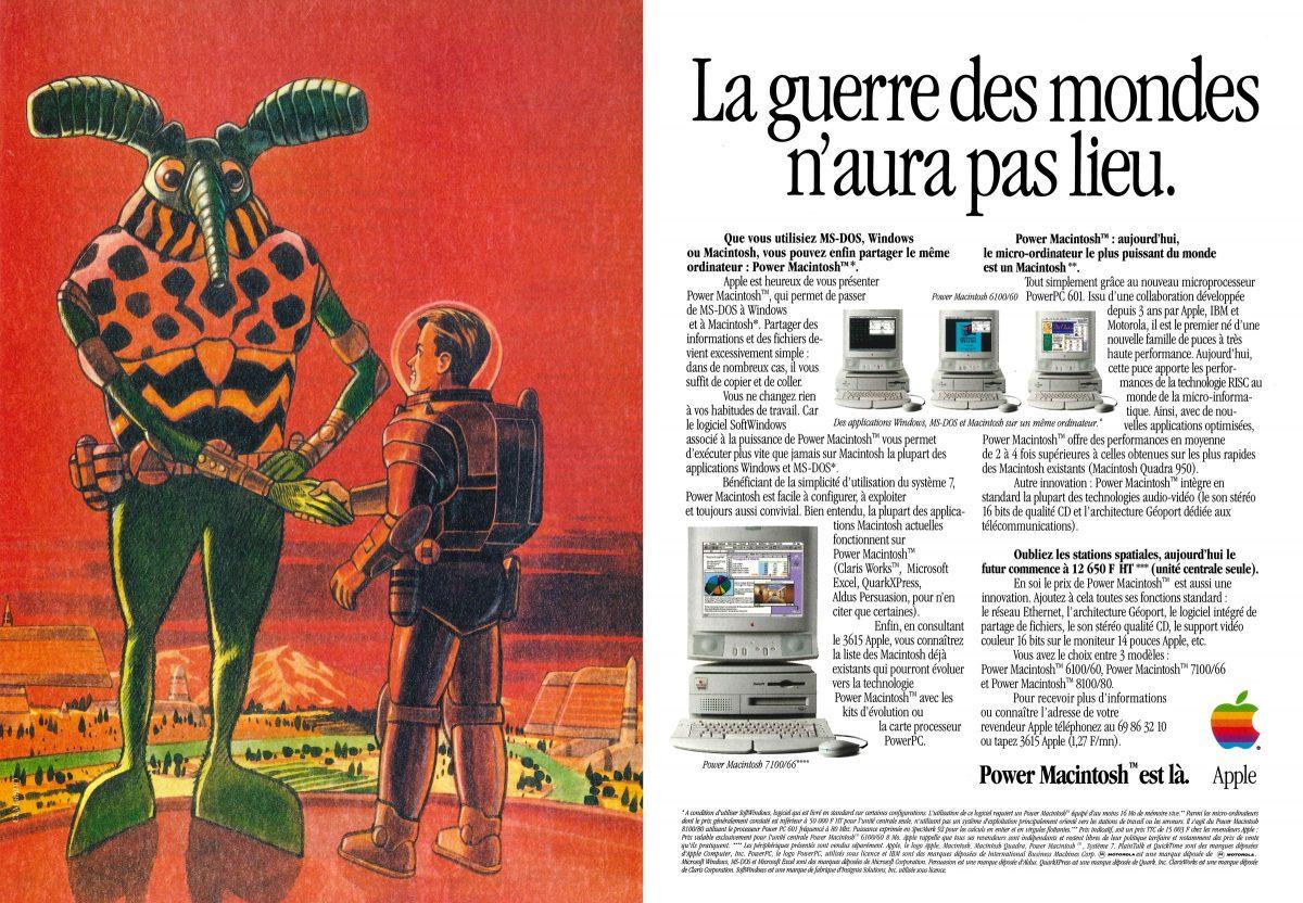 Publicité Apple PowerMacintosh La guerre des mondes