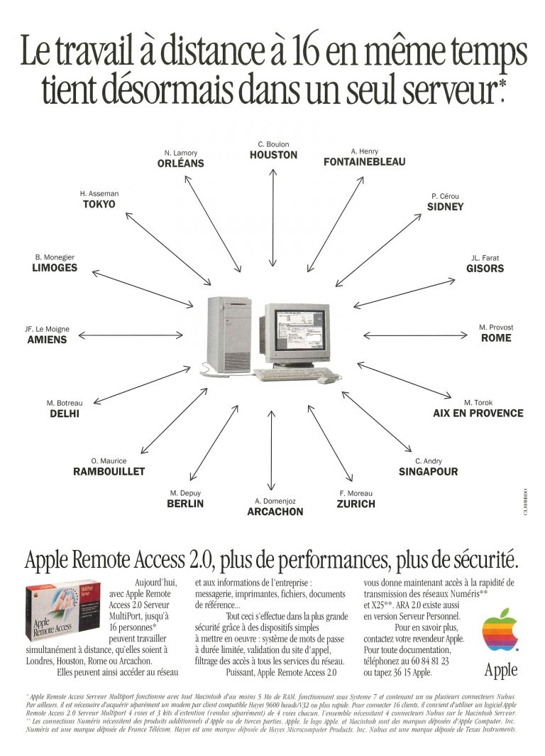 Apple Remote Access 2.0 Apple Ad