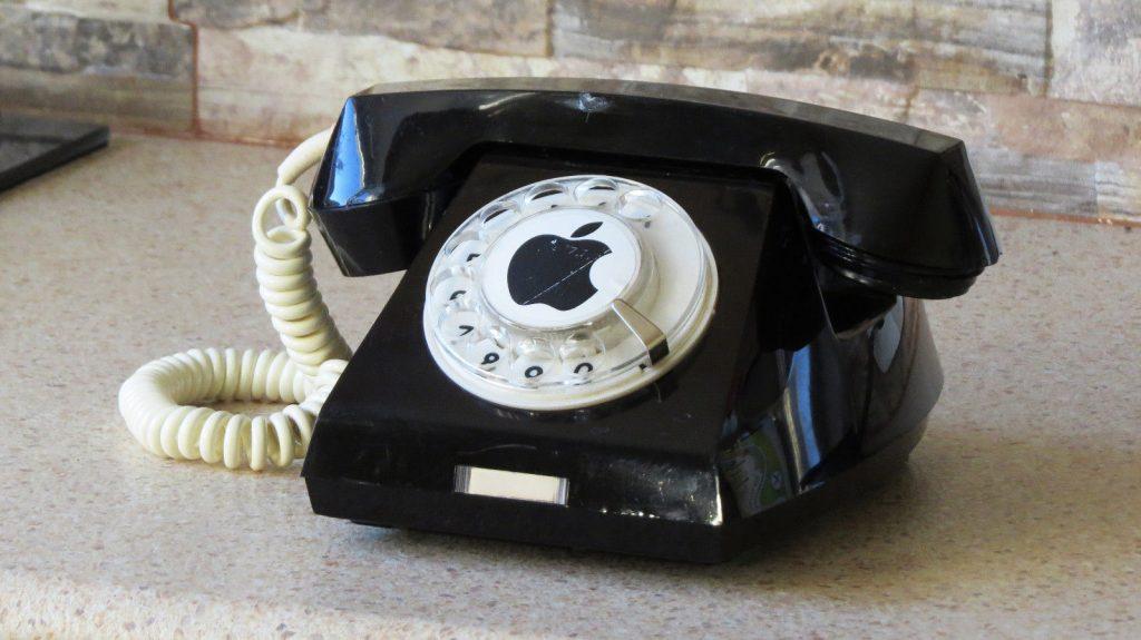 Apple logo bakelite telephone