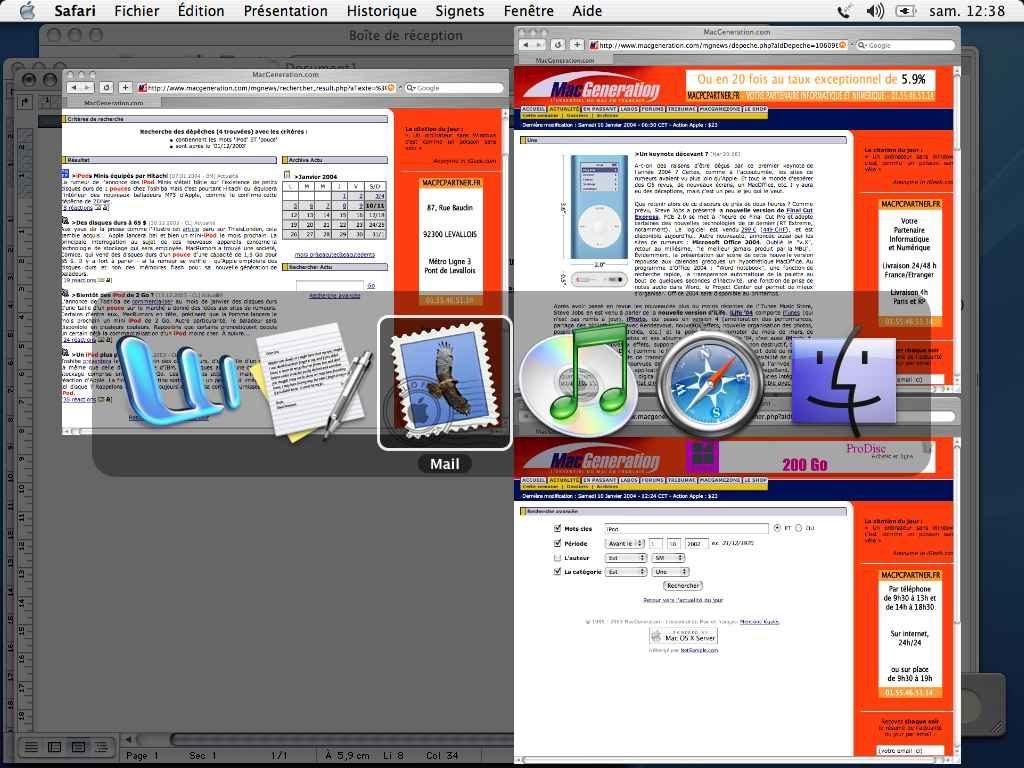 Exposé Mac OS X Application